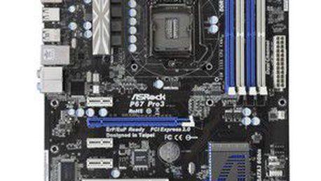 Základní deska se socketem 1155 pro procesory Intel Core i3/i5/i7 ASROCK P67 Pro3