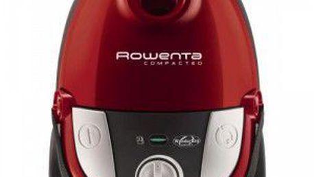 Podlahový vysavač Rowenta RO 178301 Compacteo v krásné červené barvě