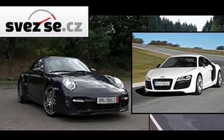 Jízda na 15 minut ve voze Porsche 911 Turbo 3.6 nebo Audi R8 4.2 FSi za bezkonkurenčních 499 Kč!