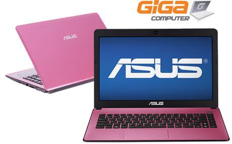 Len 359 € za ASUS X401A Pink notebook od GigaComputer.sk! 2.3 GHz procesor od Intelu, 4096 MB DDR3 pamäť, 320 GB harddisk, Windows 7 a špeciálna technológia na ochladzovanie dlaní!