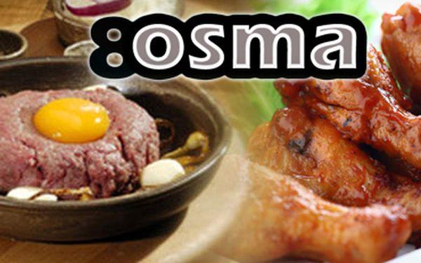 Tatarák a kuřecí křídla ve stylové ostravské restauraci 8OSMA za pouhých 139 Kč!