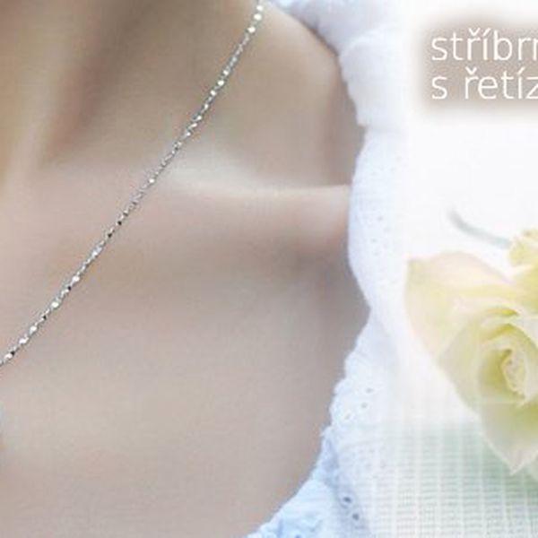 Kouzelný stříbrný přívěsek s porhodiovaným řetízkem s perlou štěstí + DÁREK černý stahovací měšec na šperky. Poštovné je ZDARMA!