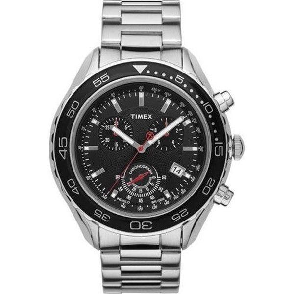 Pánské hodinky Timex T2N588. Pouzdro i řemínek byly vyrobeny z odolné nerezové oceli