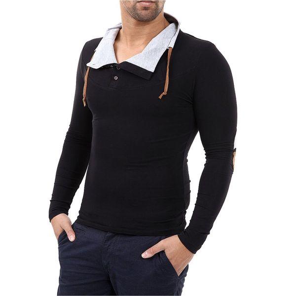 Pánské triko Carisma černé s límcem
