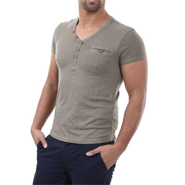 Pánské triko 98-86 khaki