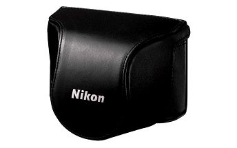 Pouzdro Nikon CB-N2000SF - černé. Kožené pouzdro pro tělo fotoaparátu a objektiv