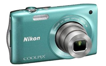 Kompaktní fotoaparát Nikon Coolpix S3300 s šestinásobným optickým zoomem