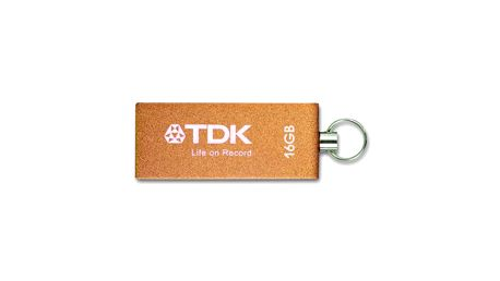 Usb flash disk tdk trans-it metal 16 gb usb 2.0 oranžový