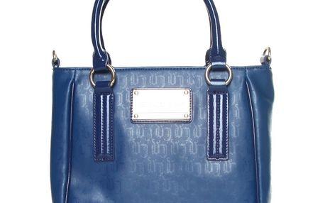 Dámská taška Versace modrá se zlatým logem
