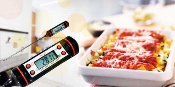 Digitální kuchyňský teploměr za jedinečných 169 Kč včetně poštovného! Jeho pomoc oceníte např. při přípravě masa, koláčů omáček nebo převařovaní mléka.