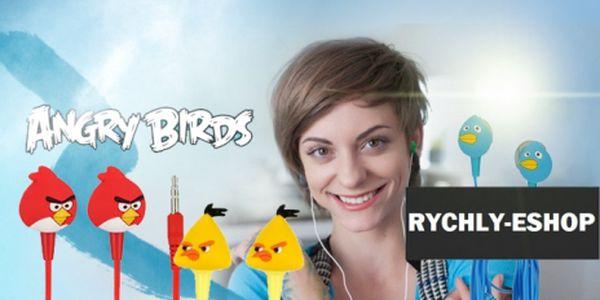 Kvalitní, stylová SLUCHÁTKA s motivy ANGRY BIRDS za jedinečnou cenu 99 Kč! Kompatibilní s jakýmkoliv audio přehrávačem a s luxusní slevou 67%!