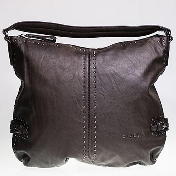 Velká tmavě hnědá kabelka