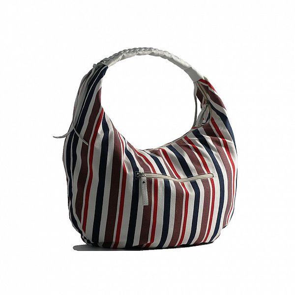 Dámská pruhovaná kabelka Red Hot