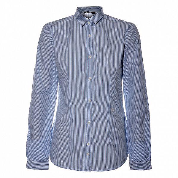 Dámská světle modrá proužkovaná košile Gas