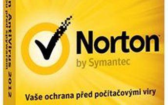 Symantec NORTON ANTIVIRUS 2012 CZ 1 USER UPG. Výkonný antivirový program, který nezpomalý počítač,