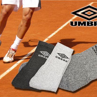 Len 3,50 € za Umbro tenisové ponožky! Unisex ponožky vhodné na šport i bežné nosenie.