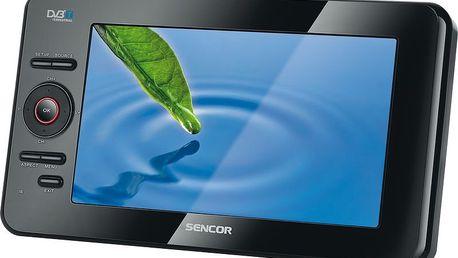 Přenosná televize SENCOR SPV 6713T s DVB-T a USB a možností přehrávání multimediálních souborů.
