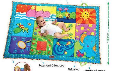 Tiny Love Super deka! 150x100cm. Prostorná barevná deka nabízí spoustu aktivních prvků