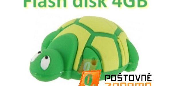 Flashdisk ve tvaru želvičky o vel. 4GB.