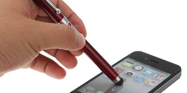 Dotykové pero - stylus - 4 v 1 - LED svítilna, laser, kuličkové pero a poštovné ZDARMA! - 57