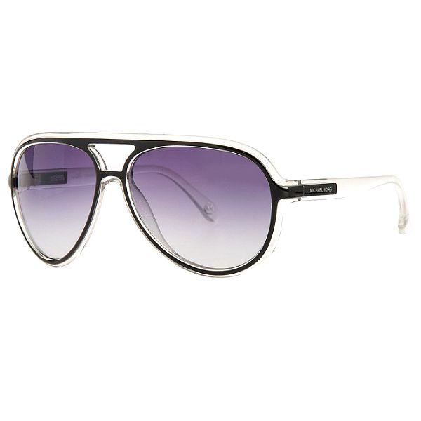 Dámské transparentní sluneční brýle Michael Kors s černými detaily
