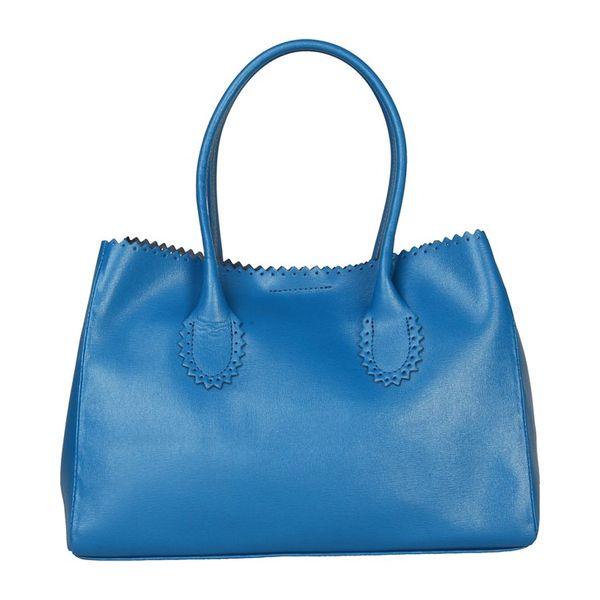 Dámská kabelka Made in Italia tyrkysově-modrá zubatý lem