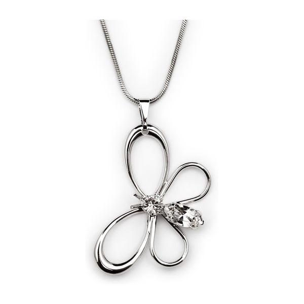 Přívěšek Swarovski stříbrný motýl
