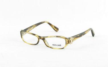 Dámské žíhané dioptrické obroučky se zlatým ornamentem Roberto Cavalli