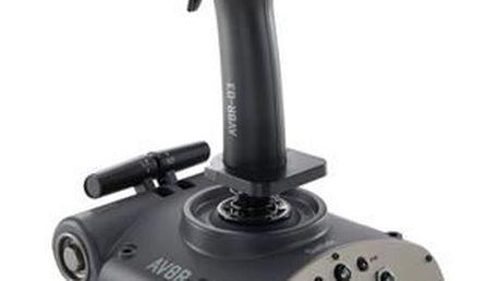 Joystick určený k ovládání leteckých simulátorových SAITEK AVIATOR AV8R-02