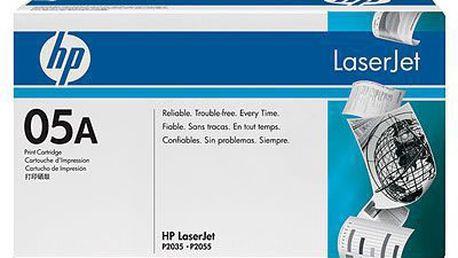 Černé tiskové kazety HP LaserJet CE505A pro 2.300 str.