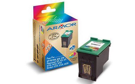 Alternativní náplň do tiskáren HP, 3 barvy, obsah 22 mlArmor C8766EE, barevná