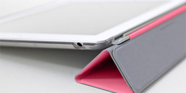 Ľahký kryt pre Apple iPad 2 na ochranu displeja pred poškodením v čiernej alebo ružovej farbe! Magnetické uchytenie, povrch z mikrovlákna, ktorý čistí displej!