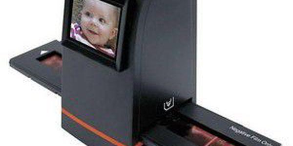 "FilmScan35 II. 2,4"" TVOut, 1/1.8"" 5 Mpix CMOS senzor, 1,800 dpi, SD/MMC"