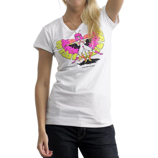 Dámské tričko Diesel bílé s potiskem