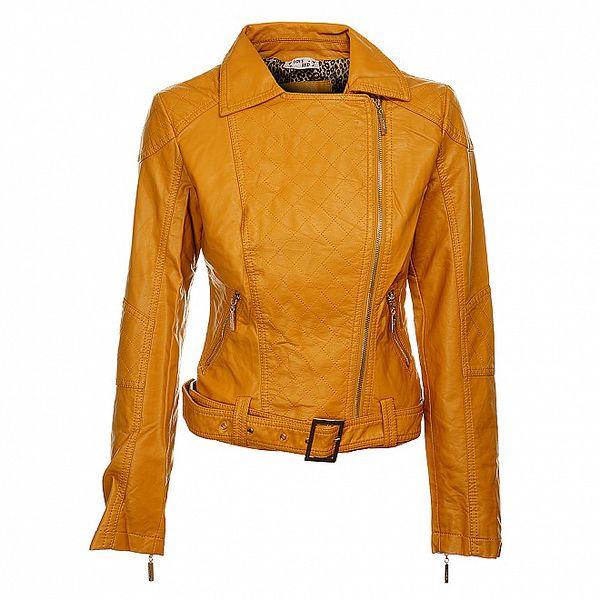 Dámsky horčicový kabát Love Red