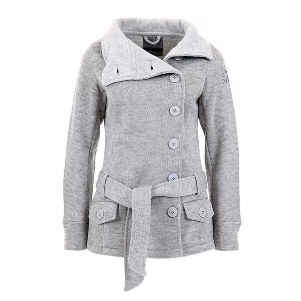 Dámská pletená bunda Fresh Made šedá