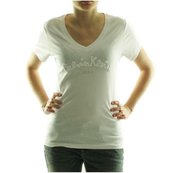 Dámské tričko Calvin Klein bílé krátký rukáv