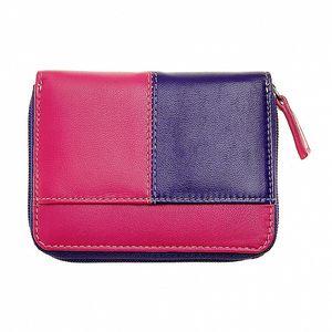 Dámska malá fialovo-ružová peňaženka Puntotres