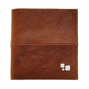 Pánska hnedá kožená peňaženka Puntotres