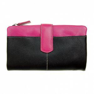 Dámska velká čierno-ružová peňaženka Puntotres