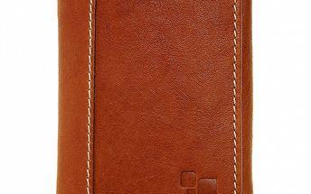 Pánská světle hnědá kožená peněženka Puntotres