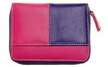 Dámská malá fialovo-růžová peněženka Puntotres