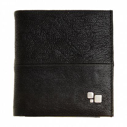 Pánska čierna kožená peňaženka Puntotres