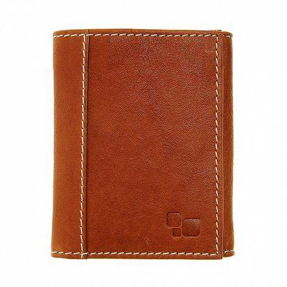 Pánska svetlo hnedá kožená peňaženka Puntotres