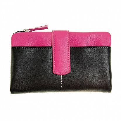 Dámska čierno-ružová peňaženka Puntotres