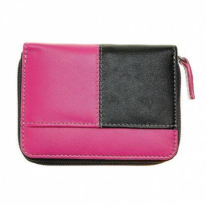 Dámska malá čierno-ružová peňaženka Puntotres