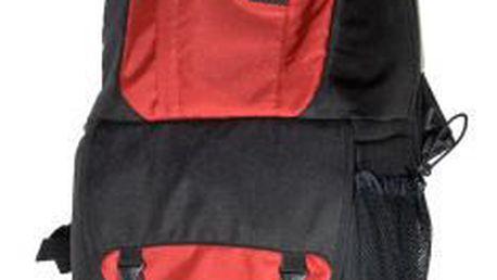 Tříkomorový fotobatoh s bočním otevíráním LowePro Fastpack 250 červená