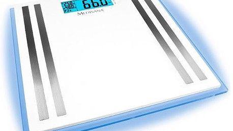 Osobní váha s velkým multifunkčním LCD displejem s modrými LEDkami na okrajích Medisana ISA