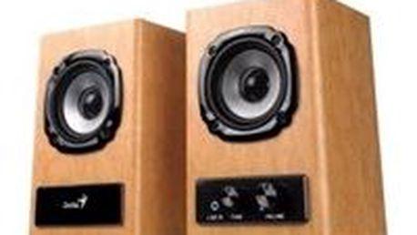 Kompaktní dřevěné stereo reproduktory GENIUS SP-HF 360A