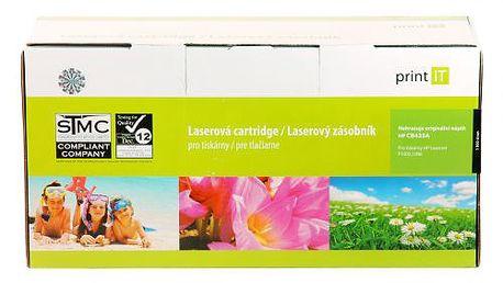 Print IT CB435A, černý. Náhradní náplň v podobě černé barvy s kapacitou pro až 1500 stran papíru